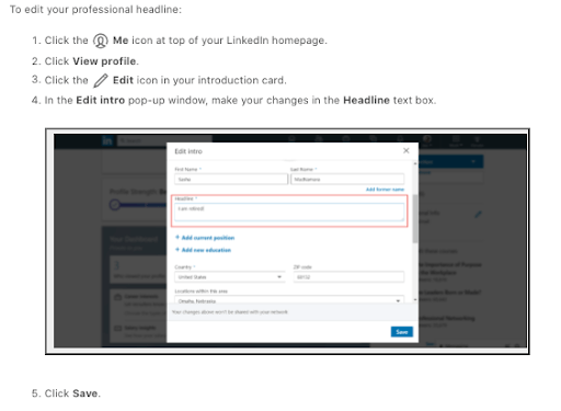 Updating LinkedIn Headline Step-by-Step To Manage Professional Brand
